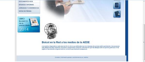 Página hackeada de AEDE