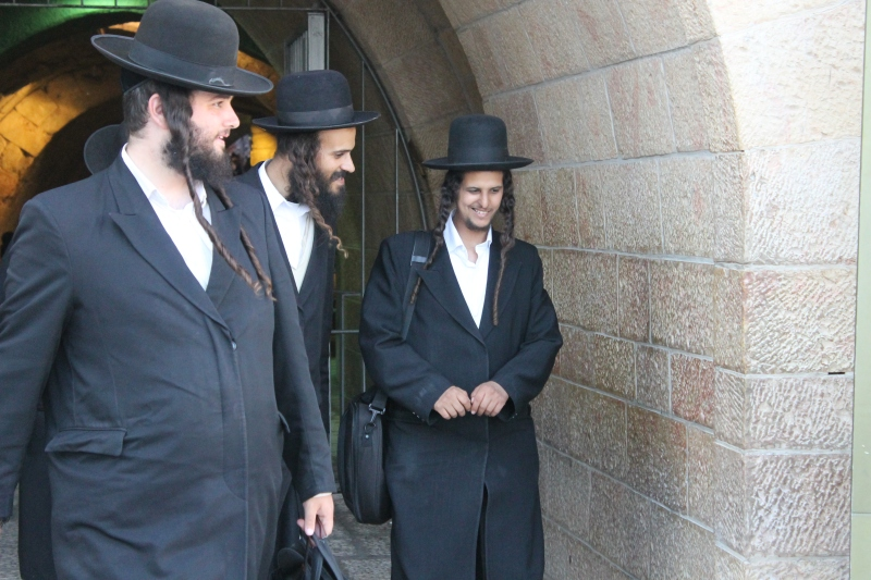 Judíos ultraortodoxos en Jerusalén (Foto: Lucía El Asri)